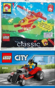 Lego 30354 Hot Rod Race Car with Driver Mini figure 2017 polybag + 1999 McDonald's Happy Meal Toy- Lego Classic (2032) Ronald McDonald's Building Kit Block Toy Set