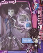 MONSTER HIGH Ghouls Rule FRANKIE STEIN DOLL Daughter of Frankenstein w Cauldron & MORE!