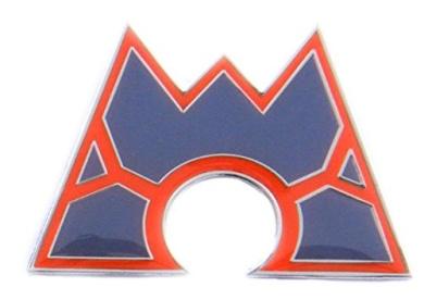 Pokemon Badges - Villain Emblems - Team Magma