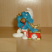 20062 - Telephone Smurf by Schleich from the Smurfs - vintage rare item
