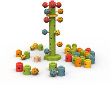 Ladybug Flower Tower Fun Stacking and Balancing Educational Game