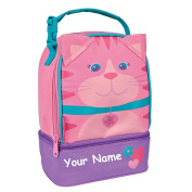 Stephen Joseph Personalised Cat Lunch Pals Lunch Box Bag