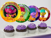 12 TROLLS Birthday Inspired Party Picks, Cupcake Picks, Cupcake Toppers #1