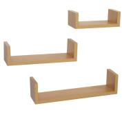3 Display U Shape Floating Wall Shelves