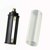 1pc 18650 Battery Tube + 1pc AAA Battery Holder Set For Flashlight Torch Lamp