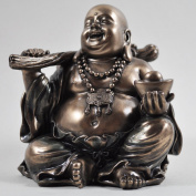Sitting Wealthy Buddha Sculpture Spiritual Gift Small Home Decor Staute Ornament H9cm