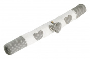 Charm and Draught Excluder Soft Polyester 85 x 3 cm Grey/White