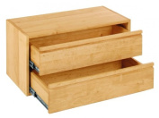 Laura cube with drawers 40 cm, 80 cm, solid biological alder wood
