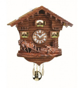 Kuckulino Black Forest Clock Swiss House with quartz movement and cuckoo chime, incl. battery TU 2031 PQ