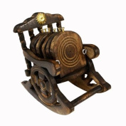 Handmade Wooden Tea Coaster in Chair Design and Shape