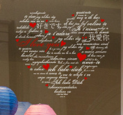I Love You - Language Heart. Valentine's window stickers by Stickers4