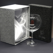 "Set/Case of 1 crystal glasses for gin tonic, collection ""000""."