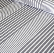 Oilcloth table fabric French Montpellier grey stripe