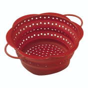 Kuhn Rikon Collander Collapsable, Silicone, Red, 19 cm