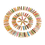 Outus Mini Colourful Wooden Craft Clips Photo Paper Peg, 100 Pieces