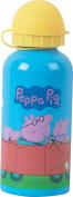 Fun House 005179 Peppa Pig Design Children's Drinks Bottle Aluminium Blue 6.4 x 6.4 x 17 cm