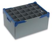 Glassware Storage Boxes| Glassjacks | Pack of 5 | 24 cells | Wine Glass Storage | Glass max width 80mm, max height 240mm | box ref. 240-24M.