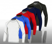 Mens Cycling/Gym Compression/Base Layer Thermal Vented Armpit Top/Shirt