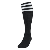 Precision Training 3 Stripe Football Socks Large Boys Black / White rrp£10