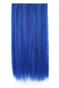 """MapofBeauty 23"""" 58cm Multi-colour Long Straight Clip in Hair Extension Hair Hairpiece"""