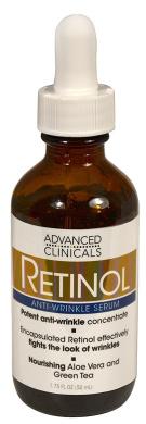 Advanced Clinicals Professional Strength Retinol Serum. Anti-ageing, Wrinkle Reducing 50ml