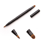 Youngman Retractable Multi-purpose Makeup Brush 2 in 1 Retractable Lip Brush Eyeshadow Brush and Concealing Brush 1 PC