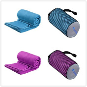 Microfiber Absorb Fast Dry Towel Compact Portable Sport Travel Bath Outdoor Gym