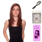 (4 Item Bundle) - (#BT-6012) Straight Press18 by Belle Tress, Wig Brush, Booklet and a Free Wig Cap Liner.