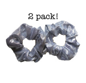 Shiny Metallic Scrunchie Set, Set of 2 Sparkly Lame Scrunchies