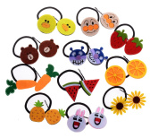 TS Cute Girls Hair Tie Hair Pins Bands Ropes Ponytail Holder for Girls Teens