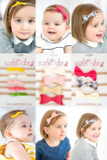 Bows on Nylon Headbands for Baby and Girls.