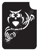Owl On Branch 1003 Body Art Glitter Makeup Tattoo Stencil- 5 Pack