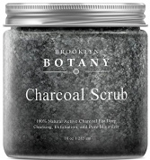 Charcoal Face Scrub and Body Scrub - 100% Natural Spa Quality - Active Charcoal for Deep Cleansing and Exfoliation to Help Treat Acne, Blackheads & Oily Skin - Great as Body & Face Cleanser - 300ml