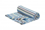 Henry and Brothers Double-layer Toddler Blanket, Blue Fun Stripe