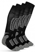 Ski Knee-High Socks Allround Ski Socks 2 Pairs with Special Polstertung