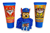 Paw Patrol Chase Soap & Scrub Set. Plus  .   1 Sticker Book and 1 Mini Tin Puzzle.