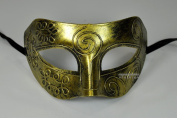 Gold Antique Greek Roman Warrior Men Venetian Mardi Gras Party Masquerade Mask - Event Party Ball Mardi Gars by Kayso