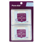 Pure-Aid Cotton Swabs Travel Pack-50ct