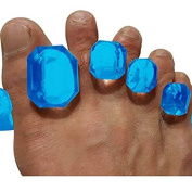 Toesport New Toes Separators Yoga and Personal Care Blue Pilates Foot Relaxing Gemstone Pro Edition Medical Grade Gel Instant Therap