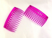 The Home Fusion Company 2 X Cerise Pink Small Side Combs Hair Slides Wedding Facinator French Plait