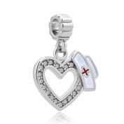 CandyCharms Heart Nurse Dangle Charms Beads For Bracelets
