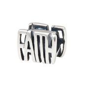 Artbeads Faith Charm 925 Sterling Silver Bead Fits DIY Charm Bracelet