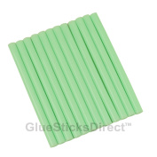 GlueSticksDirect Pastel Green Coloured Glue Sticks mini X 10cm 12 Sticks