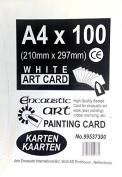 Encaustic Art White Painting Card 100 A4 Sized Cards 21cm x 30cm 99537300