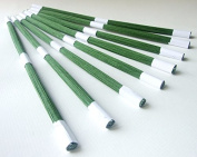 ICRAFY GAUGE 60cm Wire Stem Floral Long 30cm Craft Embellishment supply Dark Green colour 100 pcs. per a pack.