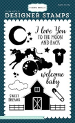 Carta Bella Paper Company CBRBB64046 To The Moon and Back Stamp