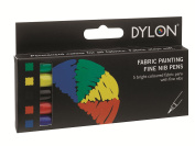 Dylon Dylon Fabric Pens - Small Standard Assorted 5 Pack