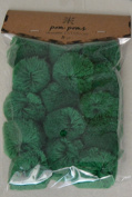 Large Green Pom Poms - Package of 15