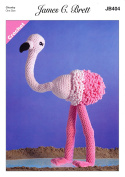 James Brett Flutterby Chunky Crochet Pattern Flo the Flamingo Fun Animal Toy