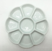Easyou 9 Well Porcelain Palette 20cm Mixing Tray